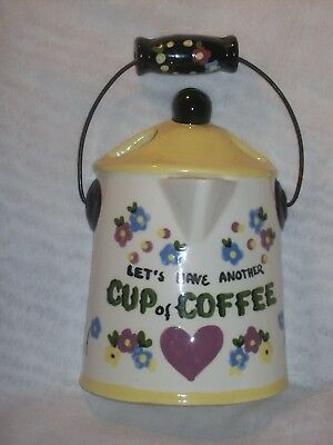 Vintage Ceramic California Cleminson's Hand Painted Coffee Pot Wall Hanging.