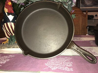 Antique Gatemarked #9 Cast Iron Skillet, Circa Mid to Late 1800's, Restored