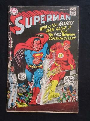 Superman #199 DC 1967 - 1st Superman v.s Flash race!