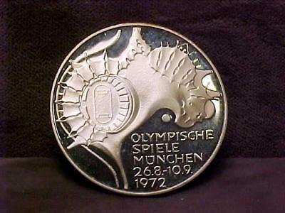 German Federal Republic 10 Mark 1972 Silver Coin - Cameo Proof
