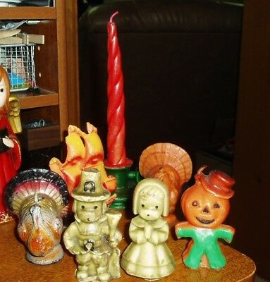 Gurley Holiday Candles Lot Of 7 Vtg.