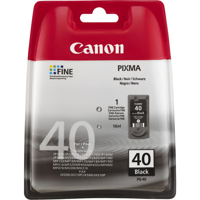 Lot of 2 Canon PG-40 Black Ink Cartridges GENUINE NEW