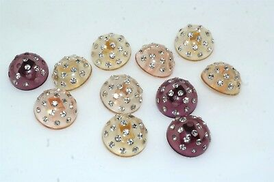 11 Vintage Lucite Rhinestone Crystal Button Lot