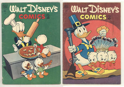 1951 WALT DISNEY COMICS & STORIES #134 & #135 Carl Barks & Scrooge in both