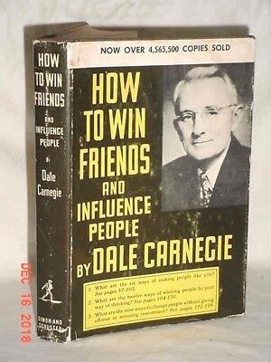 HOW TO WIN FRIENDS AND INFLUENCE PEOPLE DALE CARNEGIE 1964c HARDCOVER 95TH BONUS