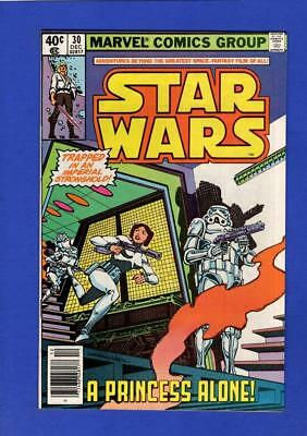 Star Wars #30 Nm 9.4 High Grade Bronze Age Marvel (Minor Cover Oxidation)