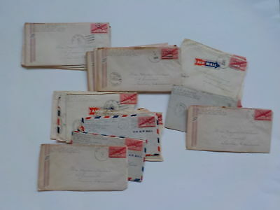 22 WWII Letters 31st Naval Construction Battalion FPO Lawton Oklahoma Lot WW2