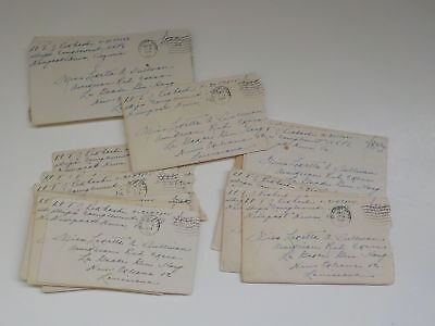 18 WWII Letters 326th Glider Infantry Red Cross New Orleans Louisiana Lot WW2