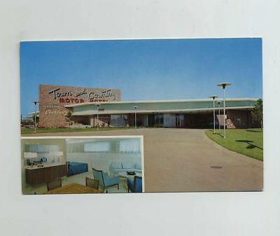 Shreveport LA Louisiana Advertising Postcard Town & Country Motel wz1431