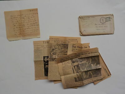 WWII Letter 1945 War Crimes Papers General Eisenhower 76th General Hospital WW2
