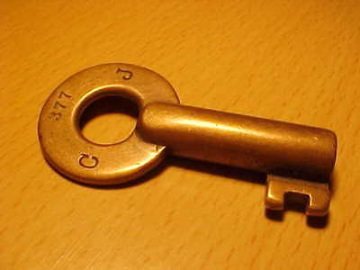 Antique OBSOLETE    Brass Railroad  KEY