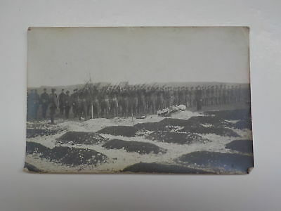 WWI Photo Funeral Rifle Salute Grave Site Soldiers Photograph WW I VTG War WW1