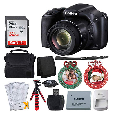 Canon SX530 HS Digital Camera with 50x Optical Zoom & Built-in Wi-F (BUNDLE)