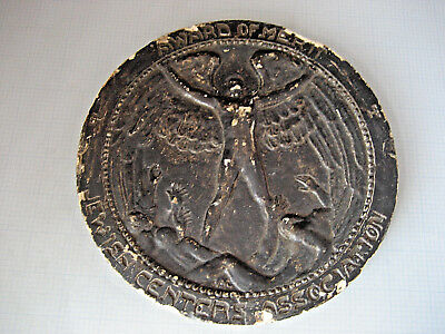 "1930-40's AWARD OF MERIT JEWISH CENTERS ASSOCIATION Medal 8"" Large Plaster Plate"