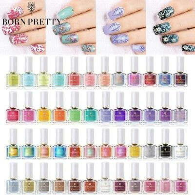 BORN PRETTY 6ml Nail Art Image Stamping Polish Chameleon Holographic