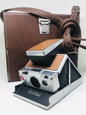Vintage Polaroid SX-70 Land Camera   Accessories Kit + Leather Carry Case  Nice! e15a7461592