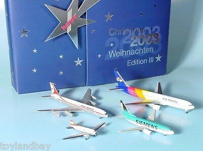 Herpa 510660 2003 Christmas Advent Plane Set 1:500 Scale Diecast Limited Edition