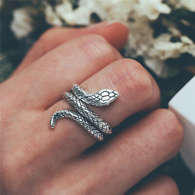 925 Silver Personality Serpent Snake Shape Rings for WeddingJewelry