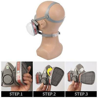 Double Filter Gas Mask Protection Antivirus Respirator Chemical Rubber Safe Tool