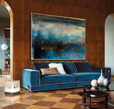 Large Abstract 100% Hand-Painted Oil Painting Home Decor Art Wall On Canvas