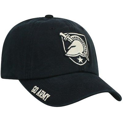 Men s Top of the World Black Army Black Knights Team Color Washed  Adjustable Hat 4057434e5
