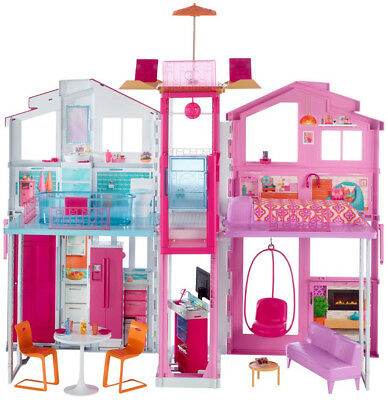 Barbie Pink Passport 3-Story Townhouse Girl Gift Toy