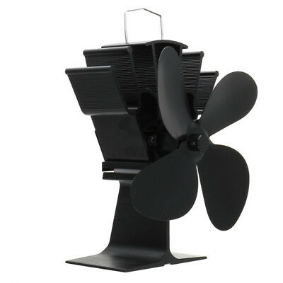 Eco Friendly 4 Blade Stove Fan Heat Powered Log Wood Burner Top Mini Fan 5 Color