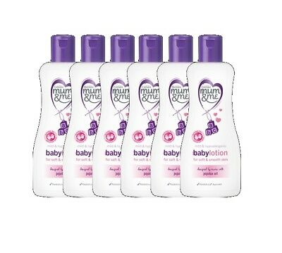 6X Cussons Mum & Me Mild & Hypoallergenic Baby Lotion With Jojoba Oil 300Ml