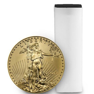 Roll of 50 - 2019 1/10 oz. Gold American Eagle $5 GEM BU SKU55914
