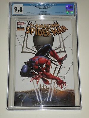 Amazing Spider-Man 1 (2018, Marvel) CGC 9.8 Clayton Crain Variant Cover A