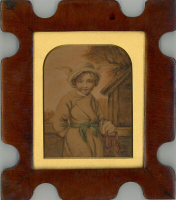 A Pair of 19th Century Watercolours - Two Children