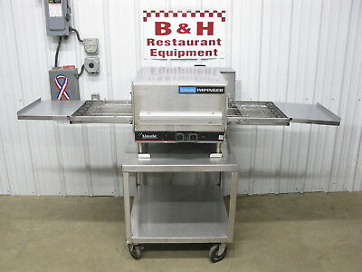 "Lincoln Impinger 1302 16"" Conveyor Pizza Sub Oven w/ Long Belt, Stainless Stand"