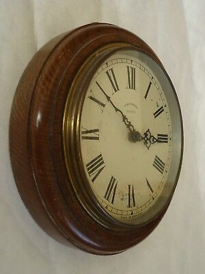 Vintage Synchronome Oak 8 Inch Dial Office/Factory Clock Case. Spares Or Repair