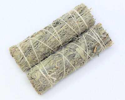 Blue Sage Smudge Stick: 2 Wand Pack! (Herb, House Cleansing Negativity Removal)