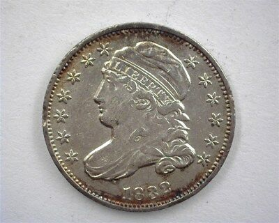 1832 Capped Bust Silver 10 Cents  About Uncirculated