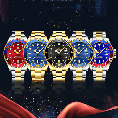 2018 Fashion Quartz Watch Mens Luxury Male Business Wrist Watches Night Light