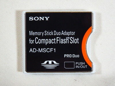 Sony AD-MSCF1 Memory Stick Duo Adapter for Compact Flash