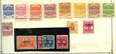 Samoa Collection Lot #1 Unchecked For Watermarks And Perf Varieties