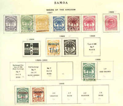 Samoa Collection Lot #2 Unchecked For Watermarks And Perf Varieties
