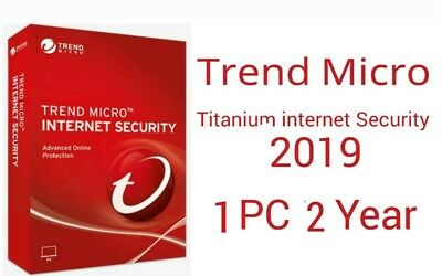 Trend Micro internet Security 2019 2 Year 1 Device Fast Delivery