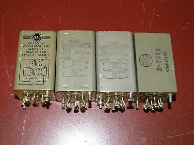 Group of 4 Type 678-0366 Choke Transformers from Collins Amplifiers
