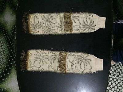 antique ottoman embroidered with SARMA AND GOLD, PARTS  FOLK  COSTUM, 2 PIECES.