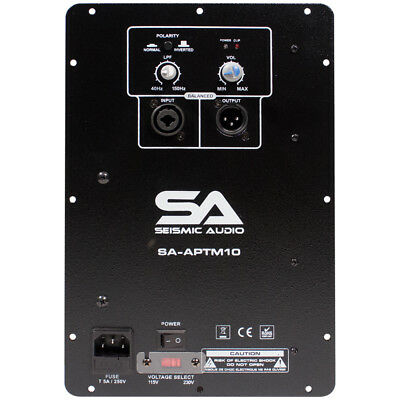 300 Watt 4 Ohm Plate Amplifier for Subwoofer Cabinets - Class AB Replacement