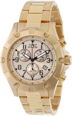 Invicta Specialty Chronograph Champagne Dial 18k Gold Ion-plated Men's Watch