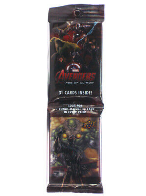 2015 Upper Deck Avengers Age Of Ultron 31-Card Jumbo Pack w/3D Insert Maestro