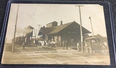 EARLY RPPC - Chicago, Rock Island and Pacific RR Depot - Chillicothe, Ill