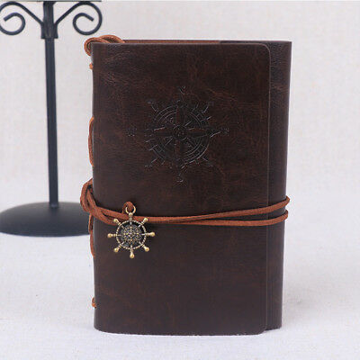 Vintage Classic Retro Tie Leather Journal Travel Notepad Notebook Diary Memo