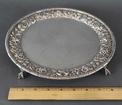 Antique 19thC Kirk & Son Coin Silver Claw Footed Salver Calling Card Tray, NR