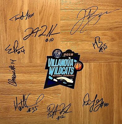 8615df0e6d4 2018 VILLANOVA WILDCATS AUTOGRAPHED TEAM SIGNED FLOORBOARD w COA FINAL FOUR