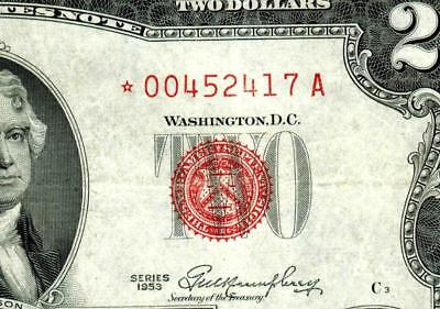 ** STAR ** $2 1953 United States Note  ** MORE CURRENCY FOR SALE **